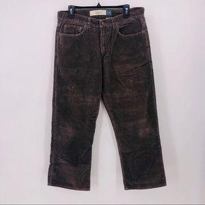 Gap pants corduroy brown boot fit size 33x26